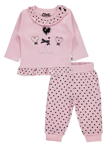 Civil Baby Civil Baby Kiz Bebek Takim 3-12 Ay Pembe Civil Baby Kiz Bebek Takim 3-12 Ay Pembe Pembe